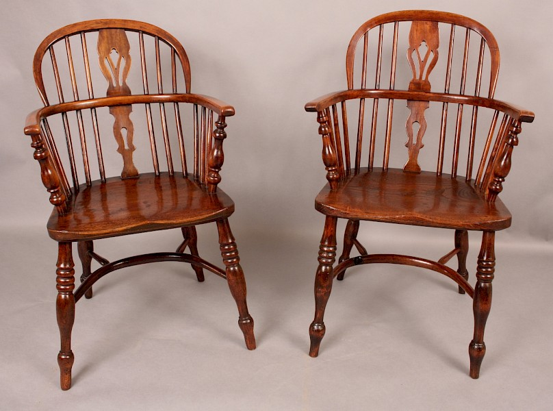 Matching Pair of Rockley Low Windsor Armchairs