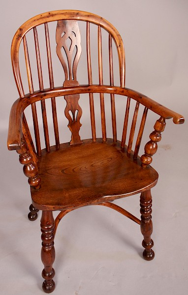 Rare Childs Yew Wood Windsor Chair