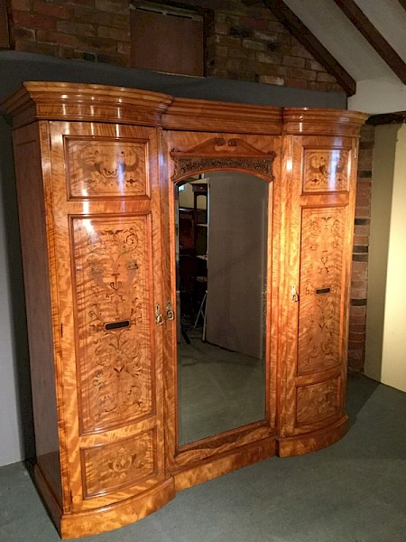 Stunning Satinwood and Marquetry Wardrobe