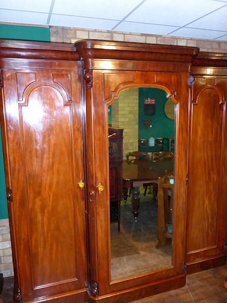Victorian 3 Door Breakfront Wardrobe