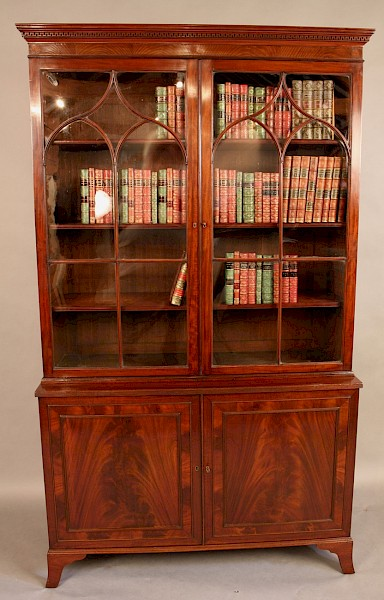 Georgian Library Bookcase Mahogany