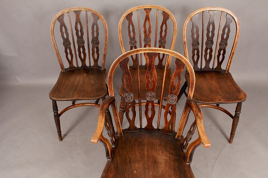 "Set of Four Thames Valley Kitchen Chairs ""Prior Type"""