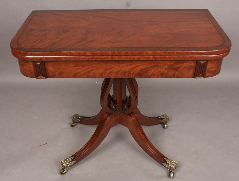 Good Georgian Mahogany Games Table