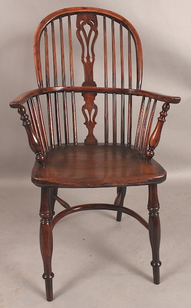 "Yew Wood High Back Windsor Armchair"" Rockley"""