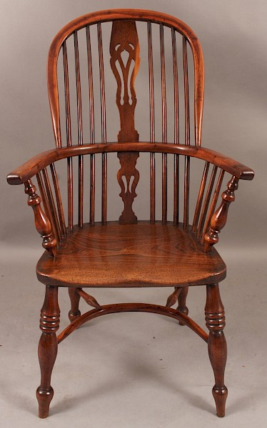 Very Good Yew Wood High Windsor Armchair