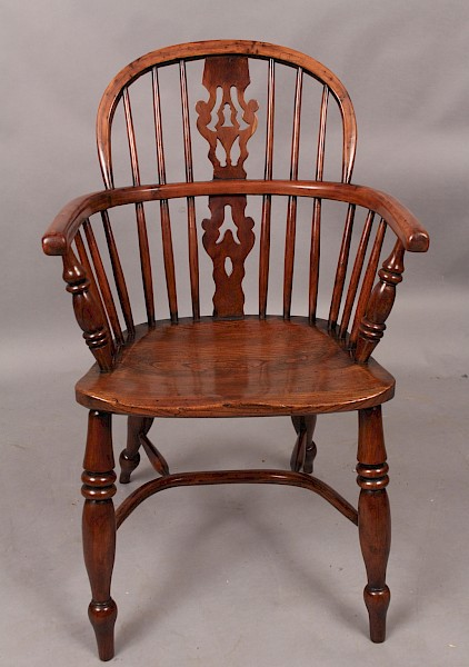 Yew Wood Windsor Armchair G Wilson Grantham Lincolnshire