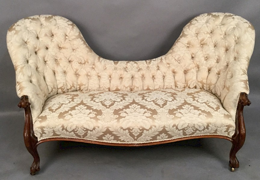 Victorian Double End Chaise Lounge