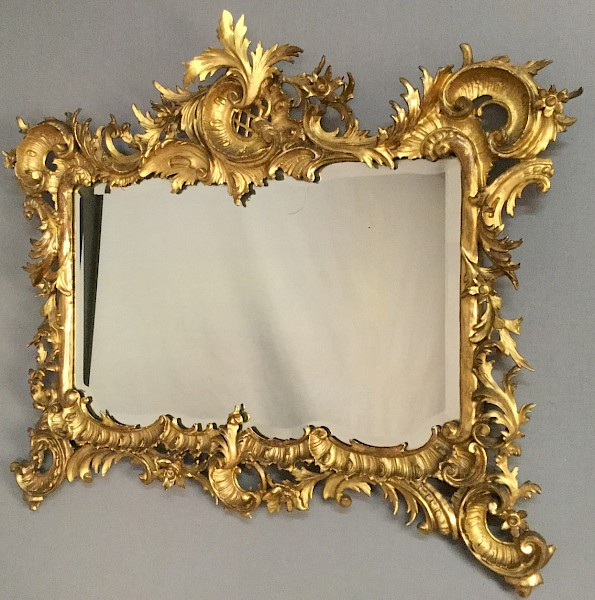 Good 19th century Carved Wood Gilded Mirror