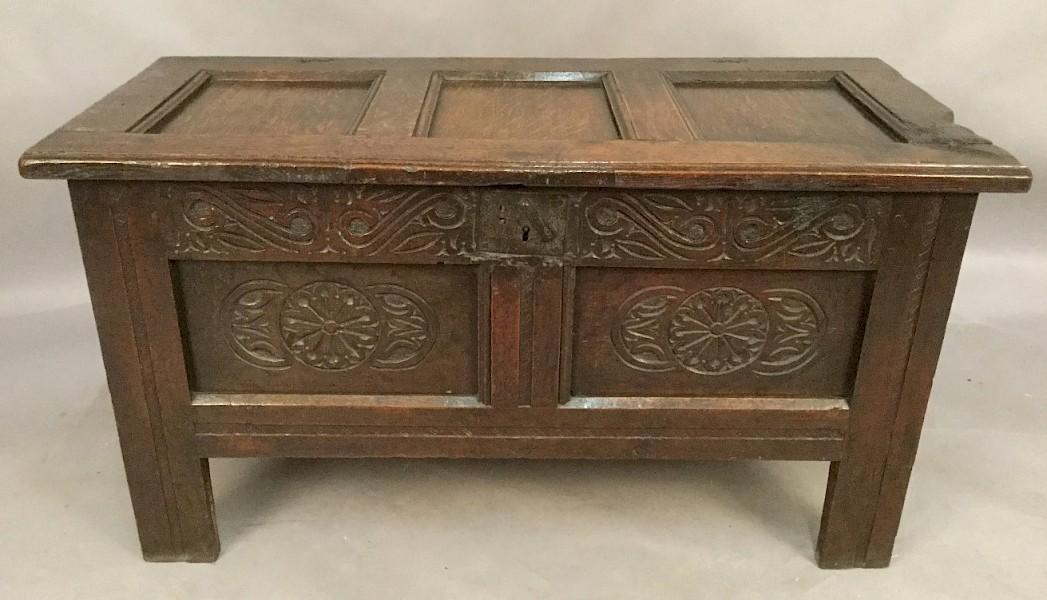 17th century Oak Coffer/Blanket Box