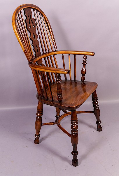 Yew Wood Windsor Chair by Benjamin Gilling Worksop