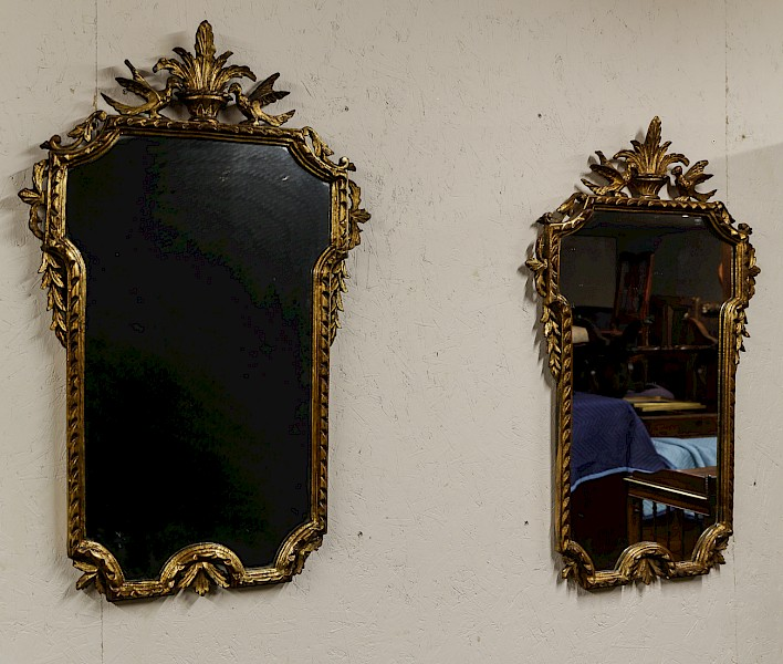 Pair of Gilded Gesso Wall Mirrors