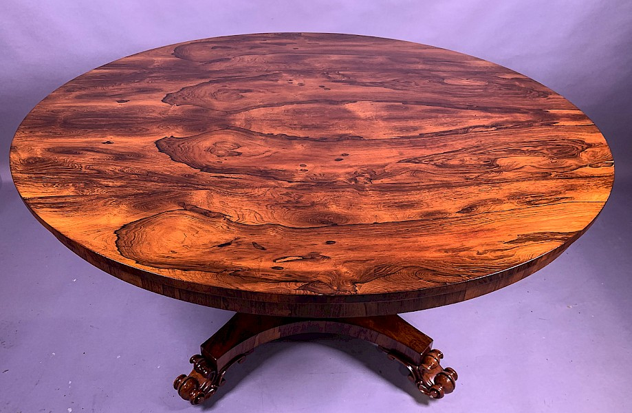 Superb William IV Rosewood Breakfast Dining Table