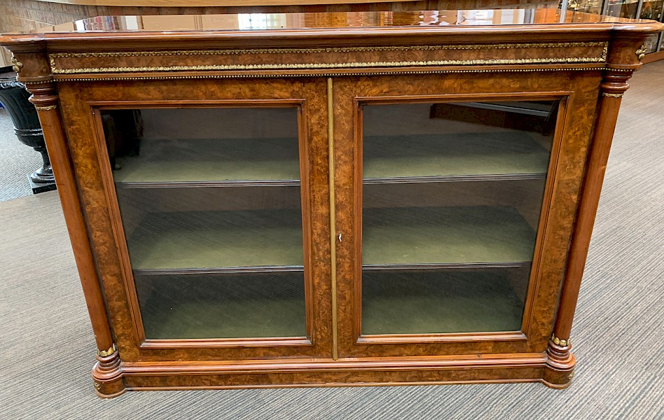 A Good Victorian Pier Cabinet in Burr Walnut