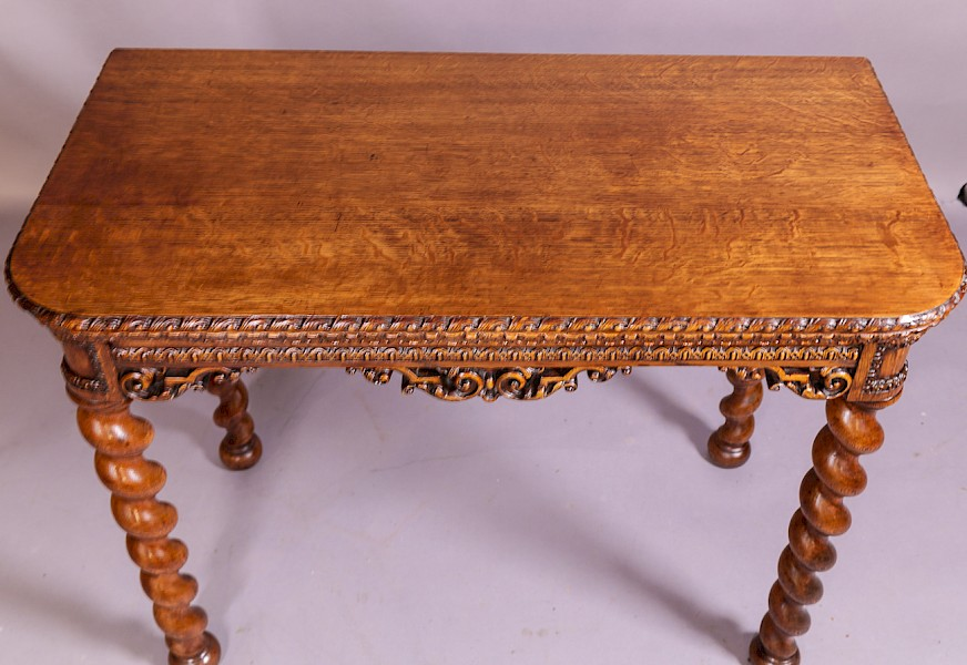 A Super Quality Victorian Games Table in Oak