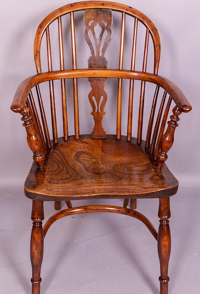 Yew Wood Windsor Chair by Nicholson Rockley