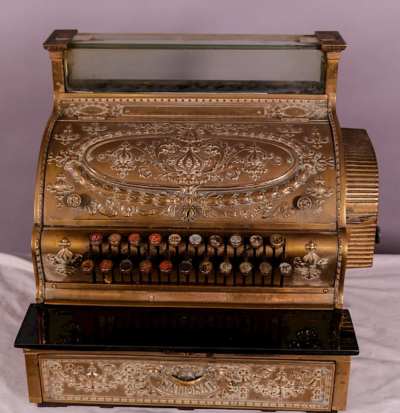 A National Cash Register Brass Till Victorian