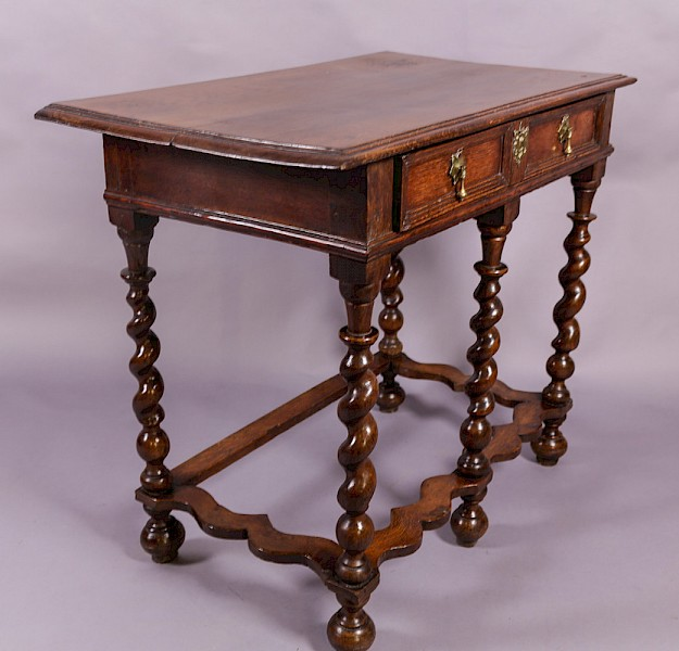 A William and Mary Wavy Stretcher Side Table