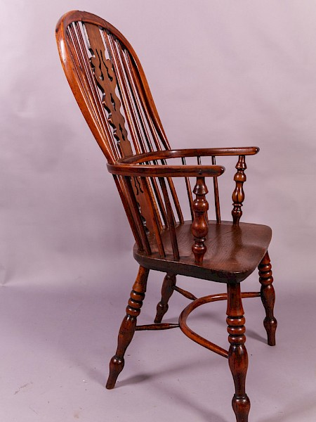 Yew Wood High Windsor Chair by Benjamin Gilling Worksop