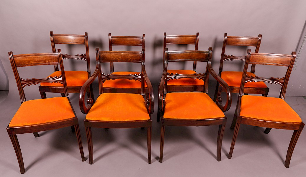 Good Set of 8 Georgian Mahogany Dining Chairs