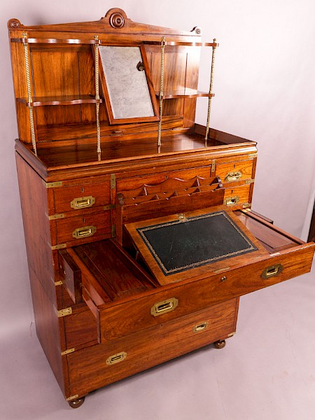 Rare Camphor Wood Campaign Chest by Harrods
