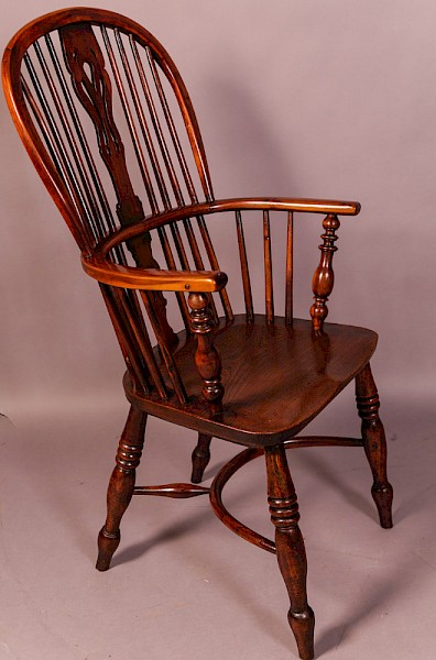 Yew Wood High Back Windsor Chair Rockley Maker
