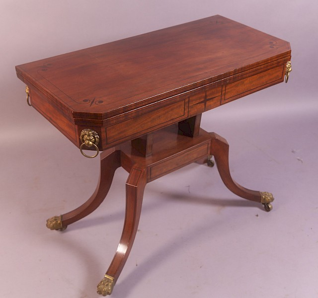 A Regency Period Games Table Mahogany and Ormulu