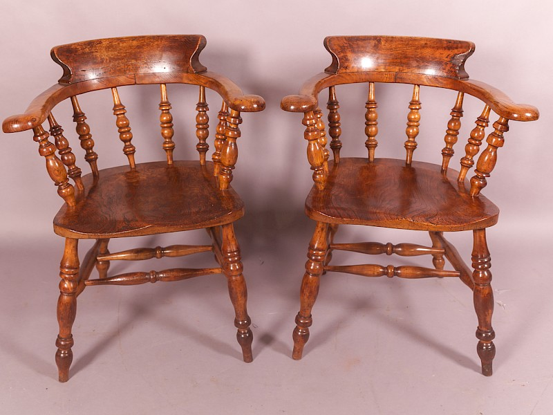 Pair of Captains Chairs Victorian