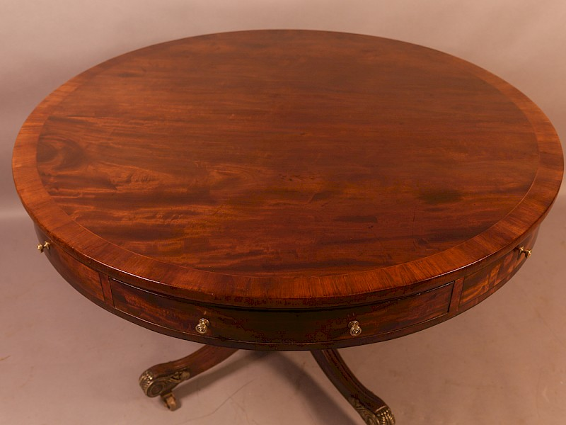 Georgian Drum Table in Mahogany