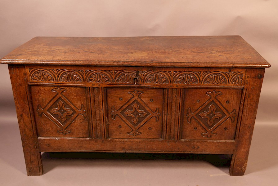 A 17th century Oak Coffer Yorkshire