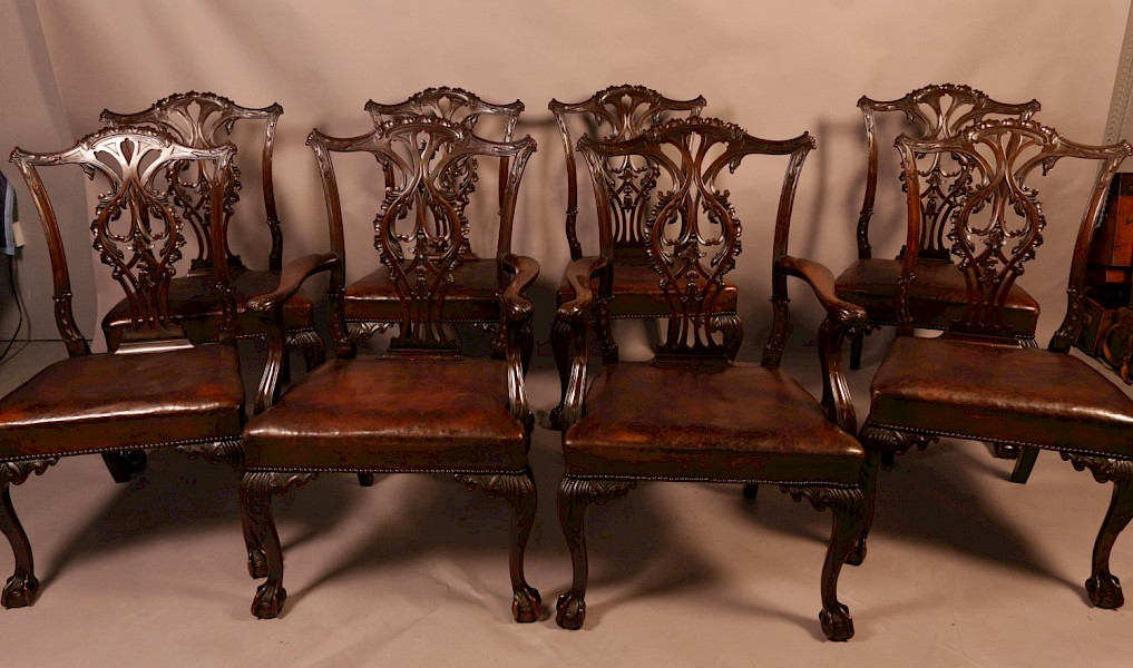 Fine Set of 8 Mahogany Dining Chairs
