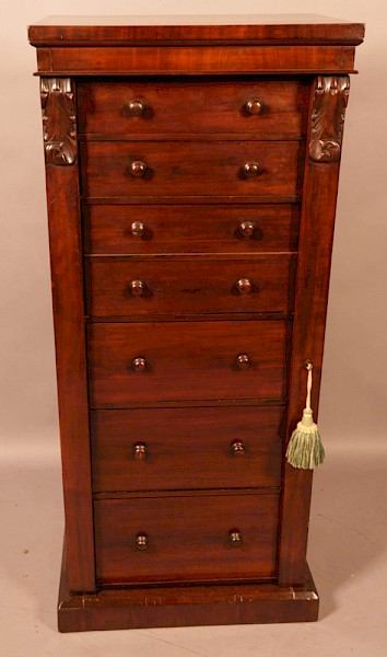 A Victorian Wellington Chest with Secretair Drawer