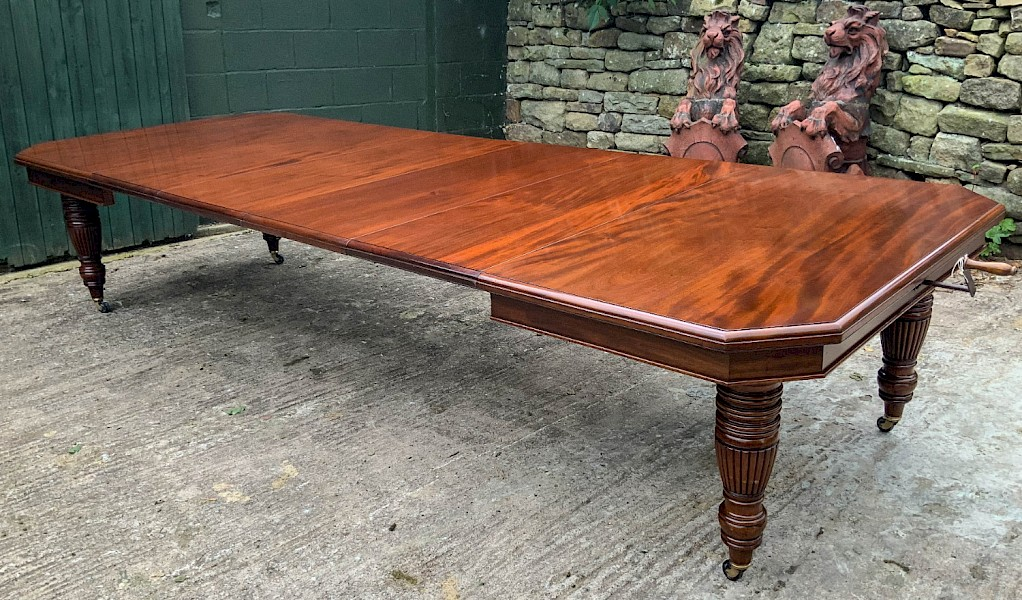 A Good Victorian Mahogany Extending Dining Table seats 14