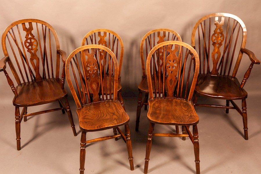A set of 6 Kitchen Chairs c 1920