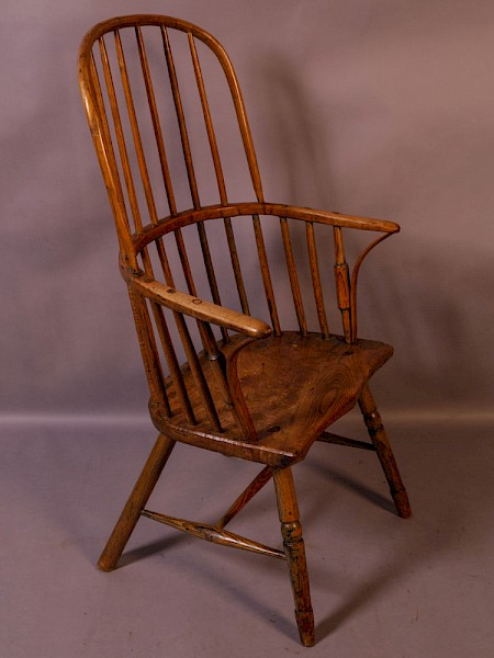 An 18th century Stick Back Windsor Chair
