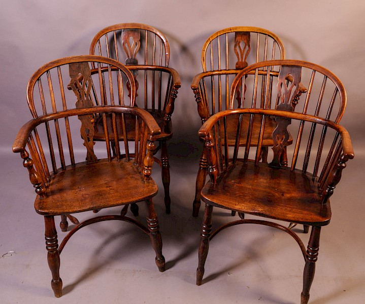 Near Matching set of 4 Windsor chairs Rockley