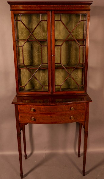A Late Victorian Salon Cabinet Satinwood