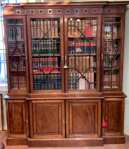 A Late Victorian Mahogany 4 Door Library Bookcase