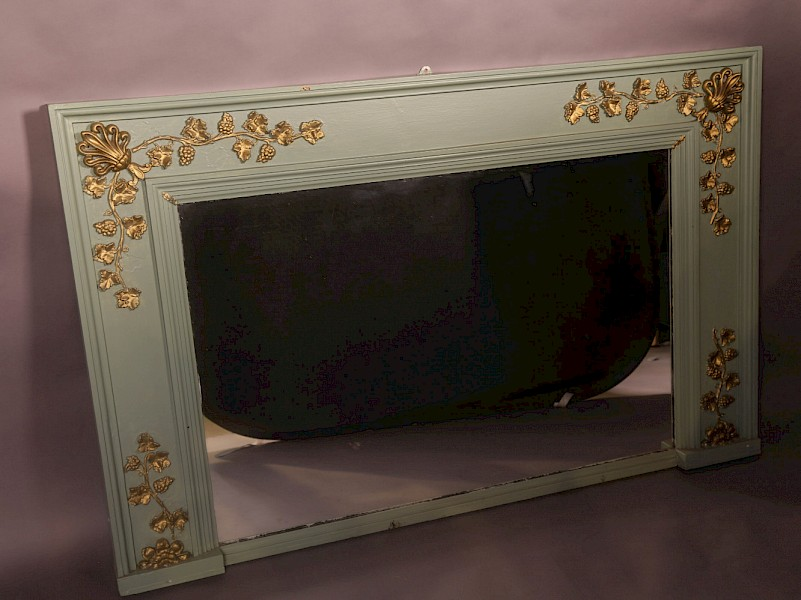 A Large late 19th century overmantle mirror
